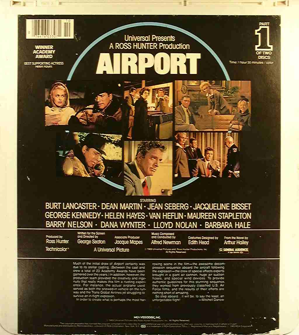 Airport (2) {76476033071} U - Side 2 - CED Title - Blu-ray ...