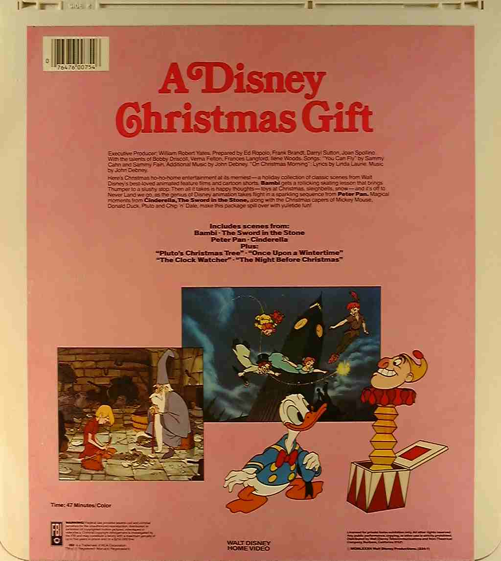 A Disney Christmas Gift Dvd.Disney Christmas Gift A R Side 2 Ced