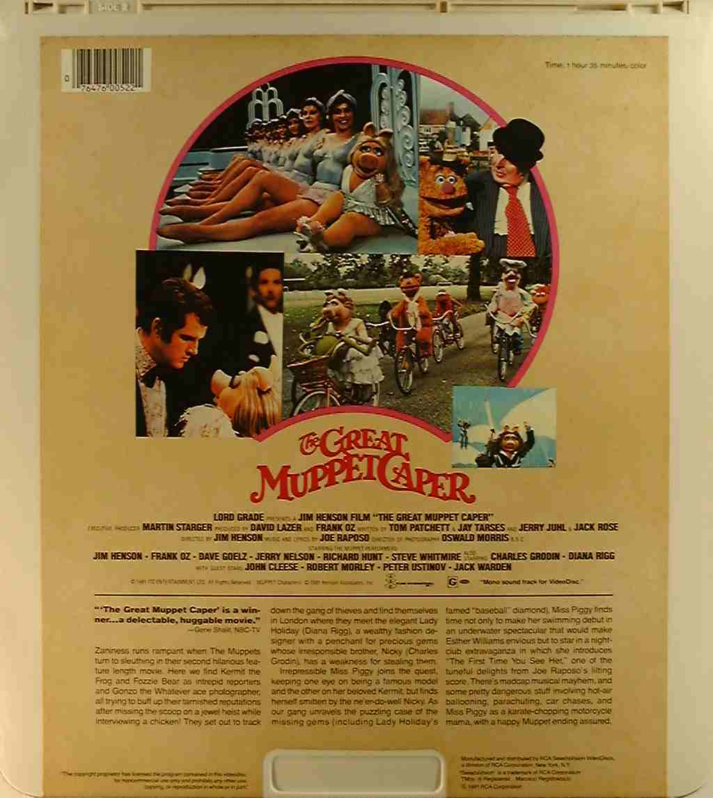 Great Muppet Caper, The [monophonic] {76476005221} C ...