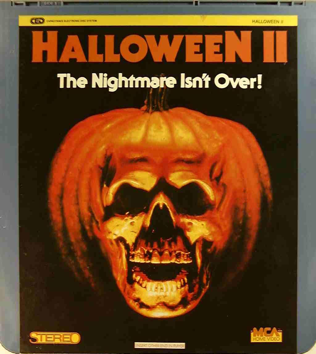 Halloween II** C - Side 1 - CED Title - Blu-ray DVD ...