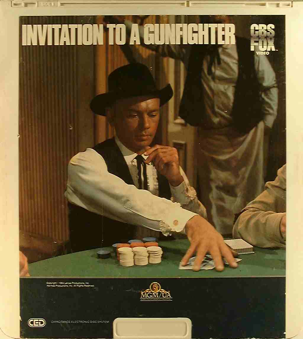 Invitation to a gunfighter 24543468097 r side 1 ced title ced title precursor to the blu ray dvd movie disc format stopboris Gallery