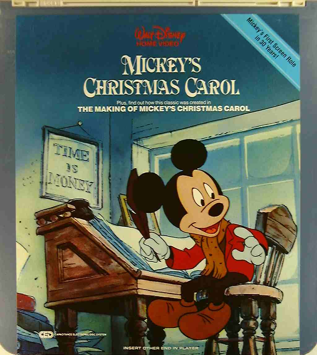 Mickey S Christmas Carol 76476107536 U Side 1 Ced Title Blu Ray Dvd Movie Precursor