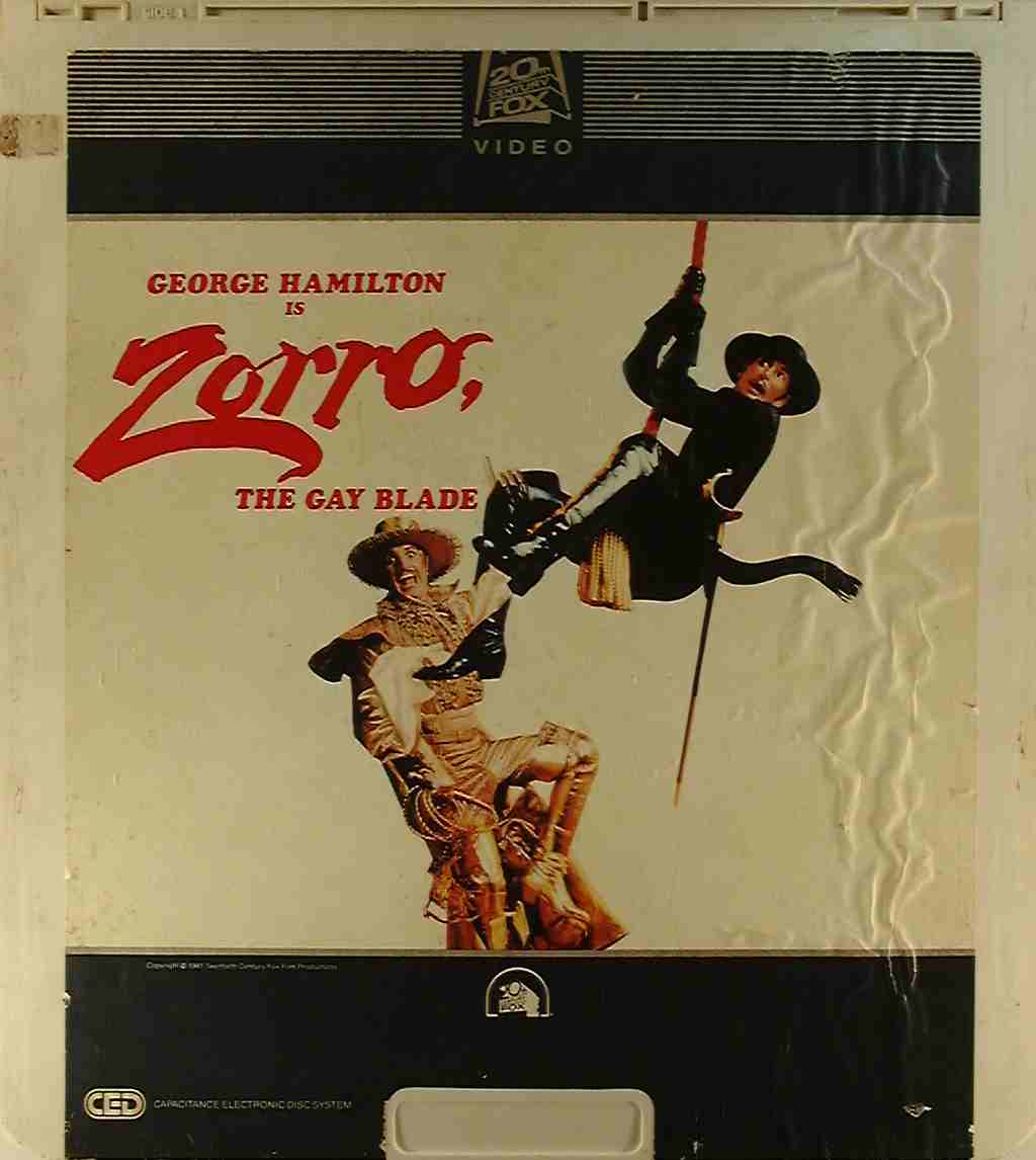 Zorro, the Gay Blade {24543112495} U - Side 1 - CED Title - Blu-ray DVD ...